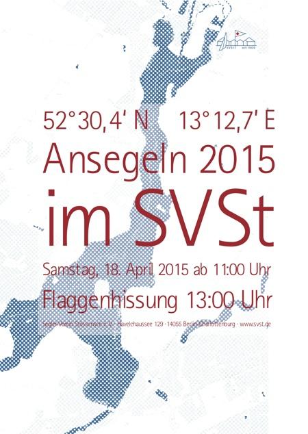 Ansegeln 2015 Plakat