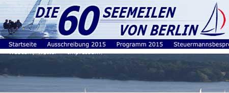 Screenshot Website www.60seemeilen.de