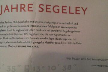150 Jahre Segeley