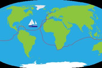 Segeljungs Weltkarte
