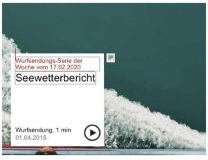 Screenshot Wurfsendungs-Serie Seewetterbericht Deutschlandfunkkultur