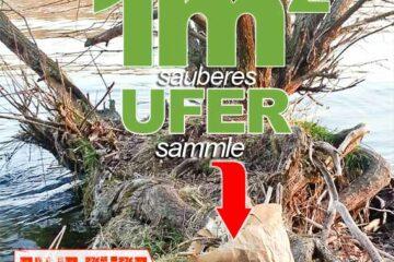 Karte 1m2 Ufer - Mach mit Klar SchiffEine Aktion für Ufer ohne Plastikmüll!