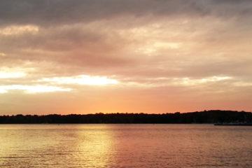 Wintersee in der Abendsonne