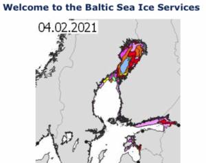 Karte Eislage im Baltikum - www.bsis-ice.de